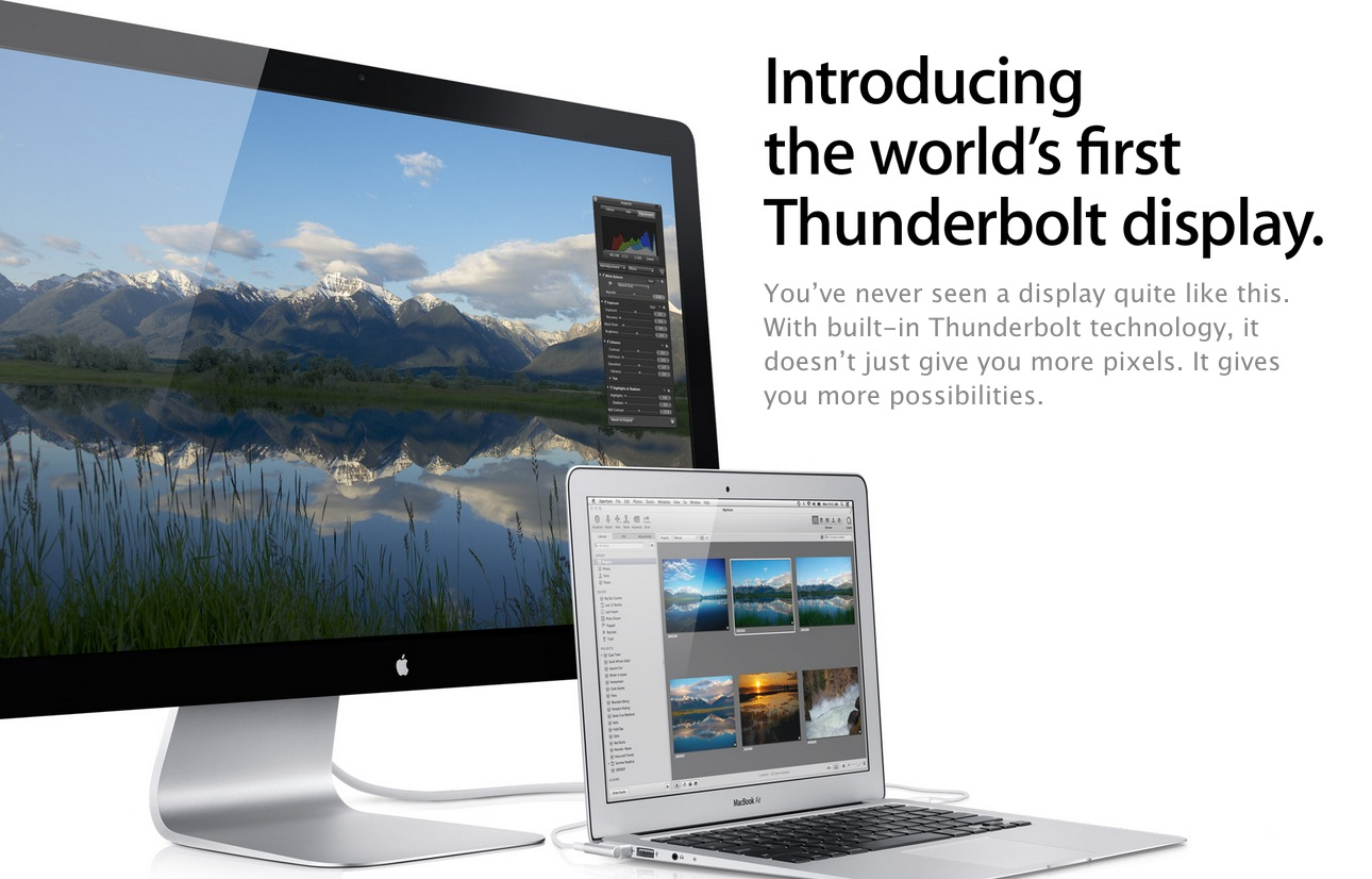 Apple's Thunderbolt Display to Receive Redesign Next?
