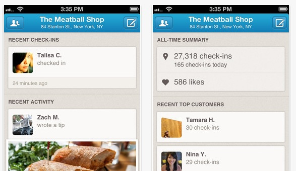 Foursquare Launches Business App for iOS