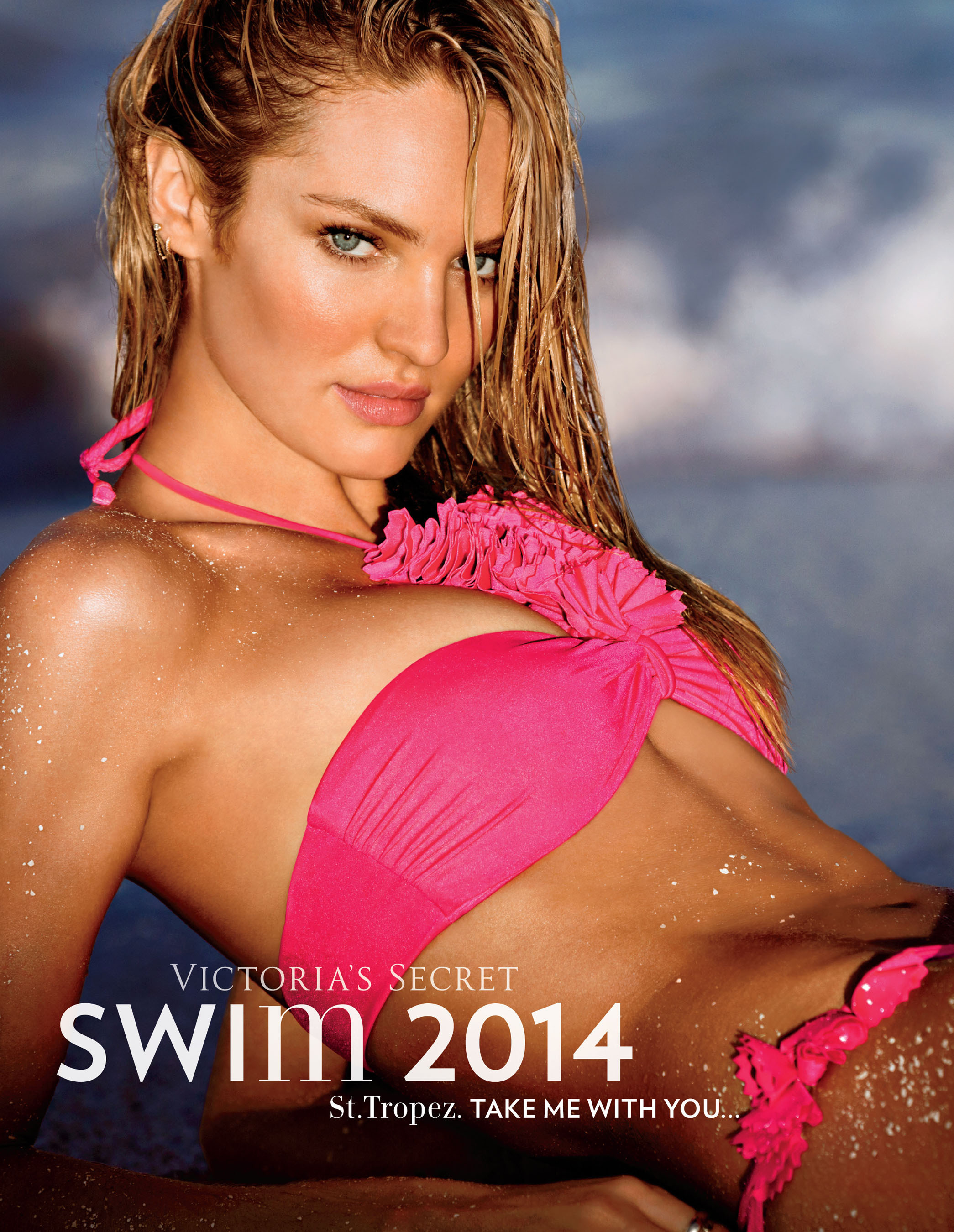 Candice Swanepoel is the Cover Angel for Victoria's Secret Swim 2014 Collection