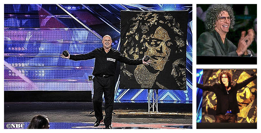 Speed Painter, Robert Channing, Impresses Howard Stern with Portrait Painted in Seconds