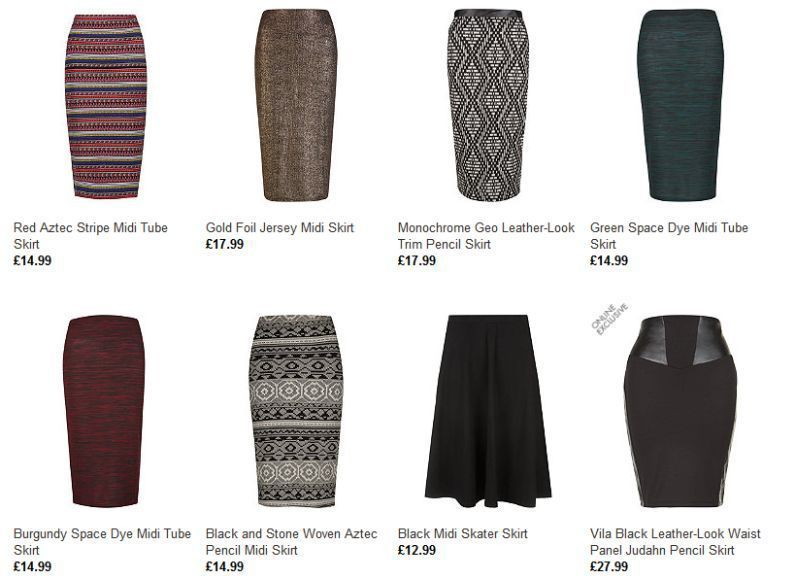 Look Thinks Midi Skirts Are the Way to Go