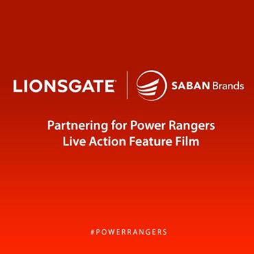 Lionsgate and Saban Brands Team for POWER RANGERS Live Action Feature Film