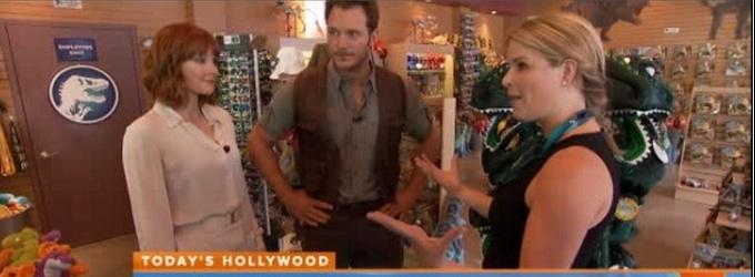 VIDEO: Chris Pratt Takes TODAY Behind-the-Scenes of New Film JURASSIC WORLD