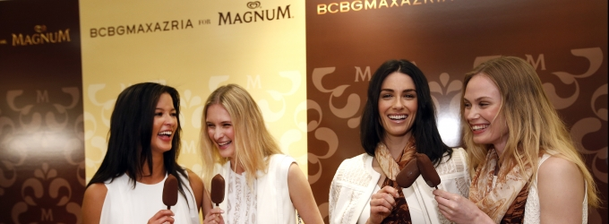 MAGNUM Ice Cream and BCBGMAXAZRIA Fashion Wrap with Aroma of Belgian Chocolate