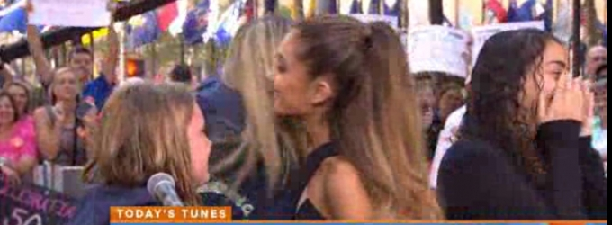 VIDEO: Ariana Grande Surprises Fans on TODAY SHOW