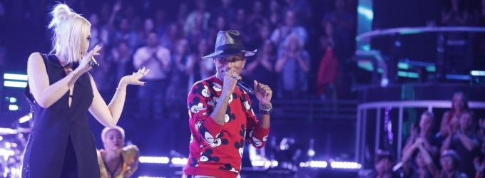 VIDEO: New VOICE Judges Gwen Stefani Pharrell Williams Perform 'Hollaback Girl' & More