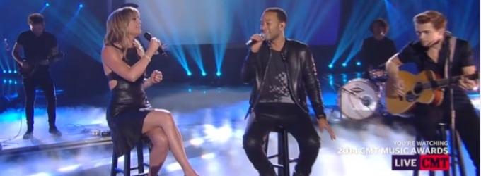 VIDEO: John Legend, Jennifer Nettles Duet on 'All of Me' at CMT MUSIC AWARDS