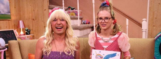 VIDEO: Taylor Swift Stars in 'Ew!' on TONIGHT SHOW; Confirms Performance on VMA's!