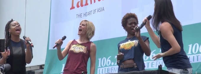 BWW TV: Here They Go! James Snyder, Jackie Burns, LaChanze & More Sing IF/THEN in Bryant Park!