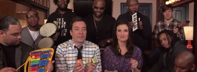 STAGE TUBE: Must Watch! Idina Menzel Sings 'Let It Go' with Jimmy Fallon and The Roots!