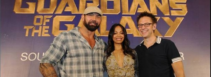 Photo Flash: Zoe Saldana & More at GUARDIANS OF THE GALAXY Singapore Press Tour