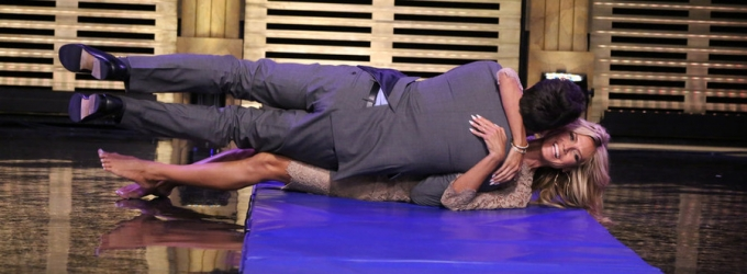 VIDEO: Jimmy & Heidi Klum Form Human Wheel on TONIGHT SHOW