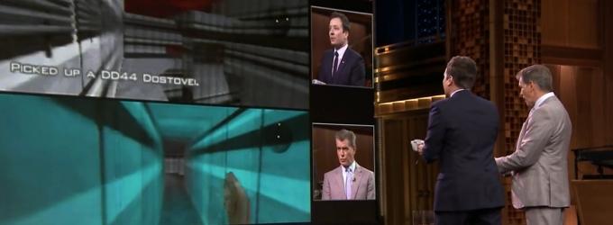 VIDEO: Pierce Brosnan Plays 'Goldeneye 007' with Jimmy Fallon on TONIGHT SHOW