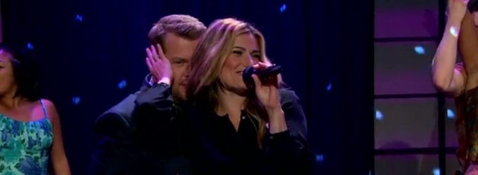 VIDEO: Idina Menzel & James Corden Do Some Dirty Dancing on LATE LATE SHOW!