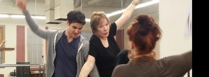 First Look At Shirley MacLaine As Darren Criss's New Mentor On GLEE!