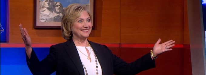 VIDEO: Hillary Clinton Makes Surprise Visit to THE COLBERT REPORT
