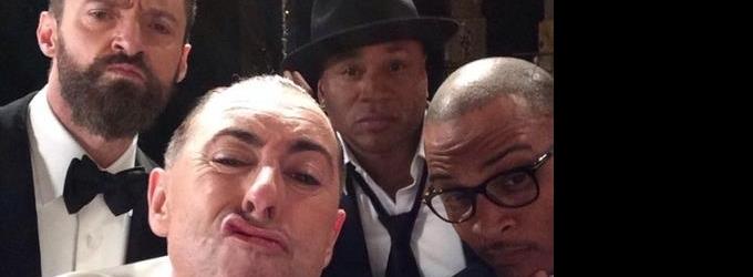 Hugh Jackman & Alan Cumming Share Selfie With Rap Stars Backstage At 2014 Tony Awards