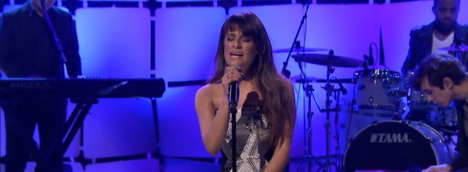 VIDEO: Lea Michele Performs New Single 'Cannonball' on TONIGHT SHOW