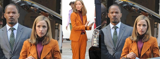 First Look At Rose Byrne In ANNIE Remake! Foxx & More On Set; Plus, Video Footage