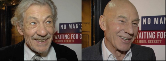BWW TV: Ian McKellen & Patrick Stewart Arrive on Broadway in WAITING FOR GODOT & NO MAN'S LAND; Inside the After Party!