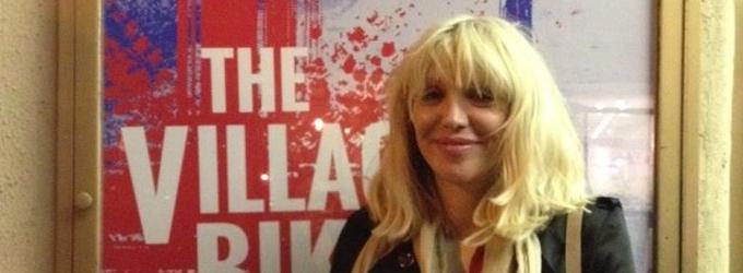 Courtney Love Attends THE VILLAGE BIKE
