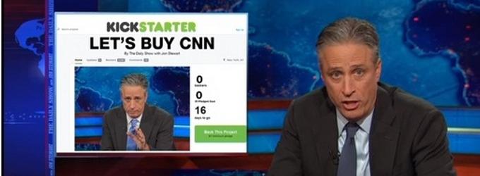 VIDEO: DAILY SHOW's Jon Stewart Launches Kickstarter to Buy CNN!