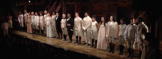 STAGE TUBE: The Public's HAMILTON Pays Heartfelt Homage to A CHORUS LINE - Full Footage!