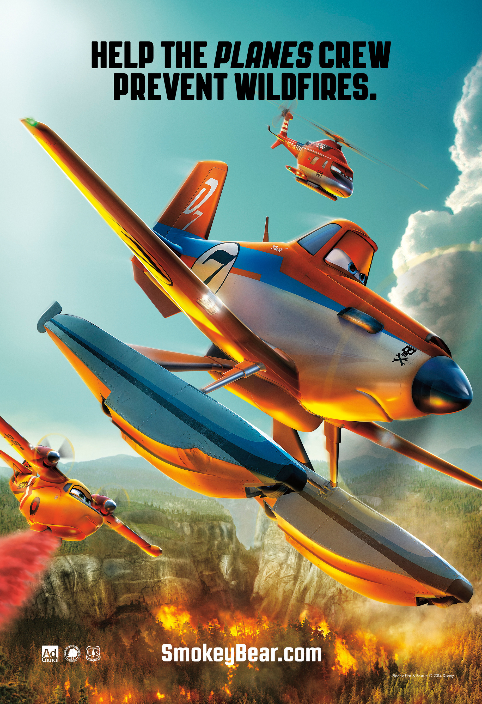 Disney's PLANES: Fire & Rescue Join Smokey Bear in New Wildfire Prevention PSAs