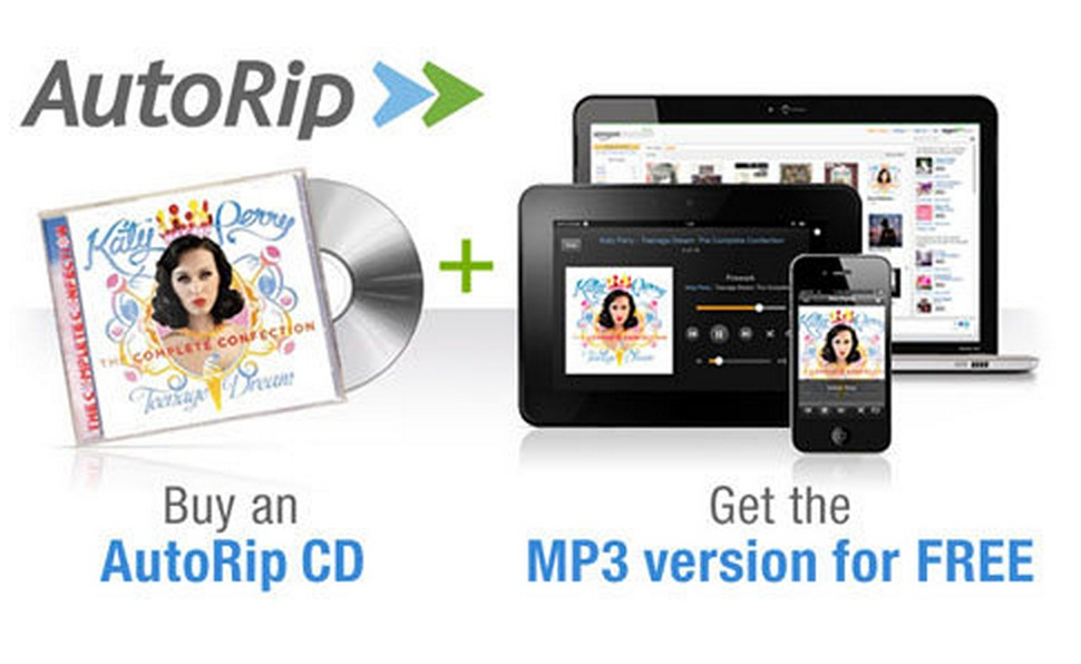Official: Amazon Unveils AutoRip - Receive Free MP3s for Physical Purchases - Past, Present & Future
