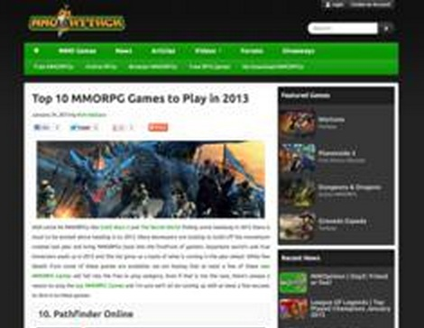 MMO Attack Announces Top 10 MMORPG Games List for 2013