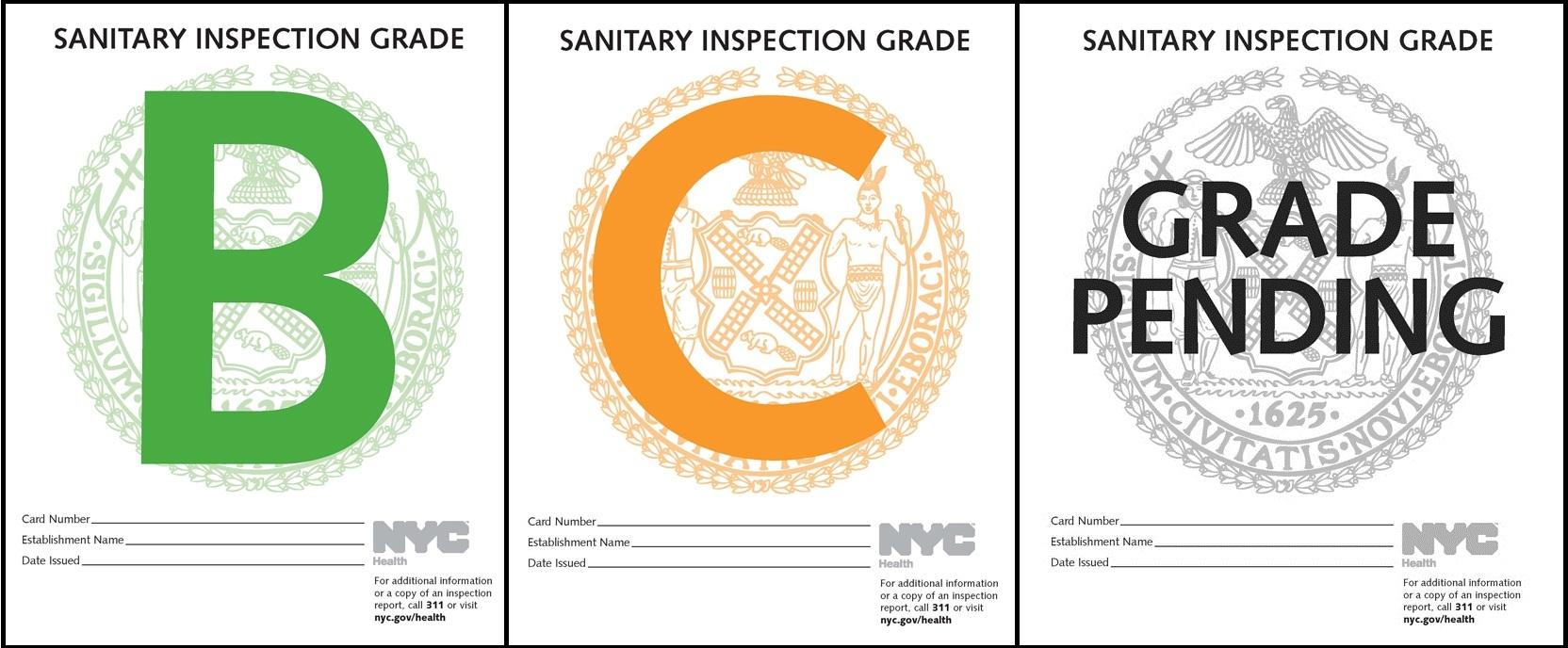 Restaurant Letter Grade New York City