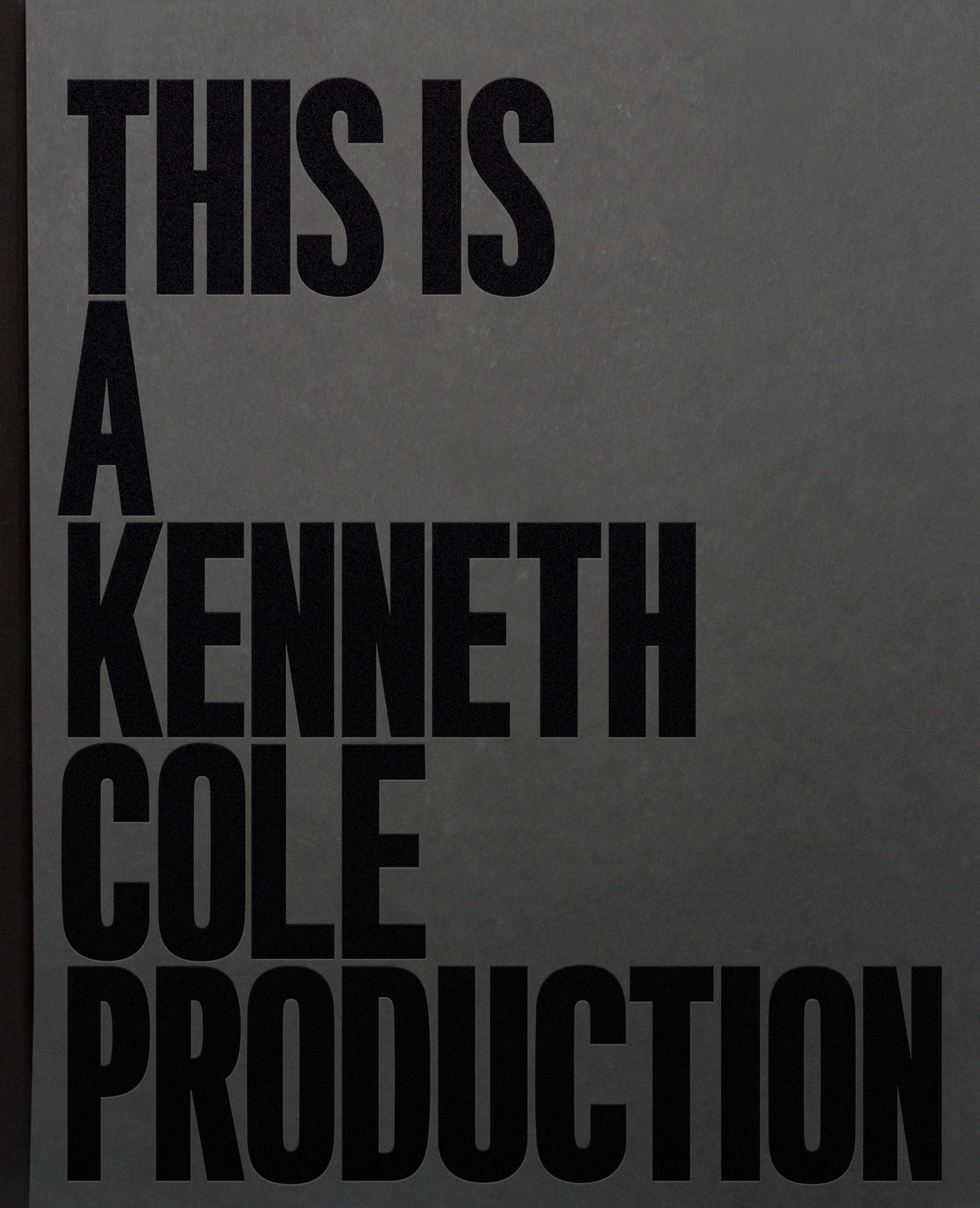 Kenneth Cole Presents New Coffee Table Book
