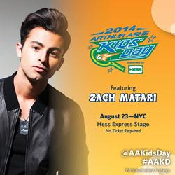Zach Matari to Perform at 2014 Arthur Ashe Kids Day