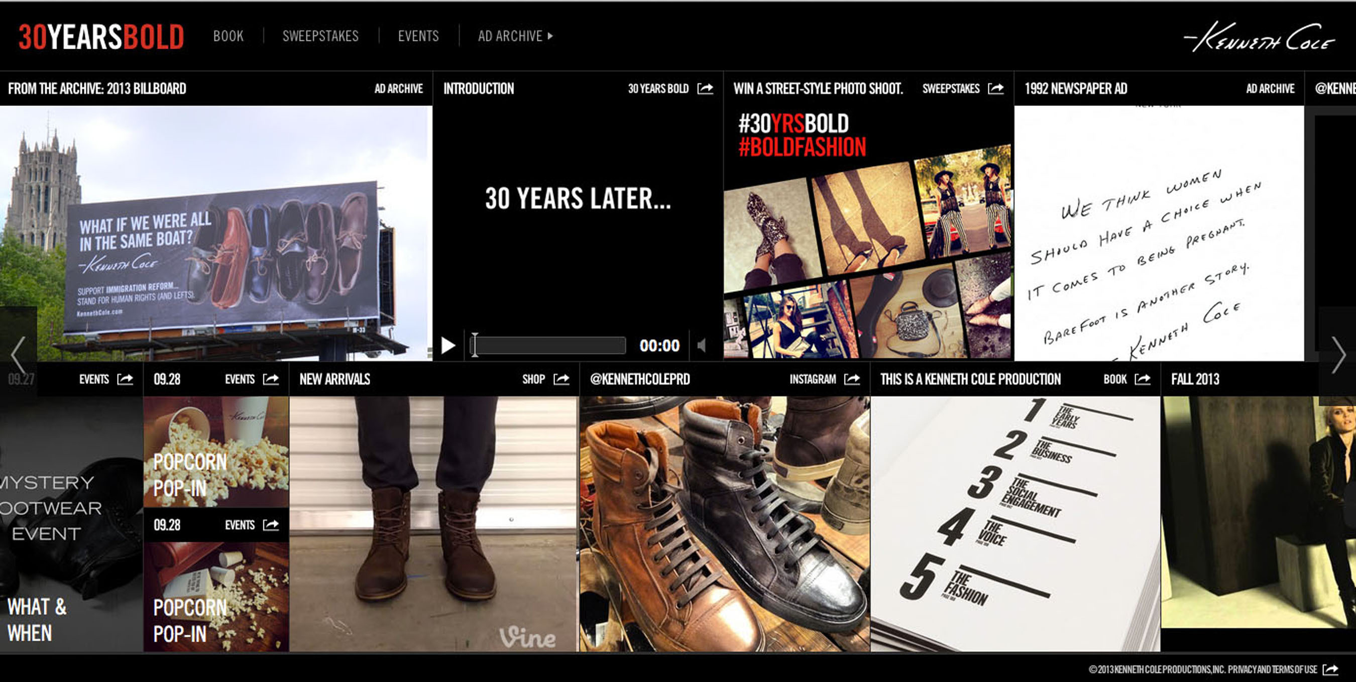 Kenneth Cole Launches 30YearsBold.com