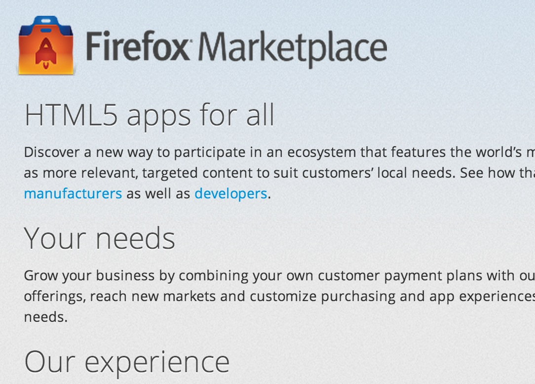 Mozilla Announces Firefox Marketplace for Mobile Apps