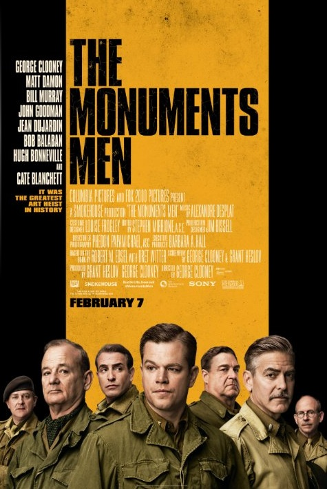 THE MONUMENTS MEN Tops Rentrak's Top Ten Movies on Demand Titles for Week Ending 6/1