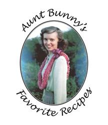 AUNT BUNNY'S FAVORITE RECIPES Filled with Recipes, Drawings, and Personal Vignettes