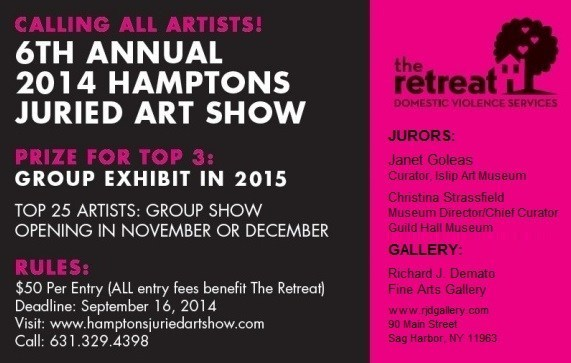 The Retreat's 6th Annual Hamptons Juried Art Show Raises Funds to End Domestic Violence