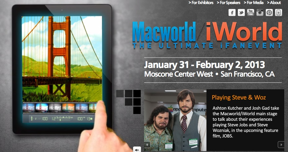 Macworld/iWorld 2013 to Kicks Off in San Francisco Next Week with iFan Events, JOBS Movie Cast & More