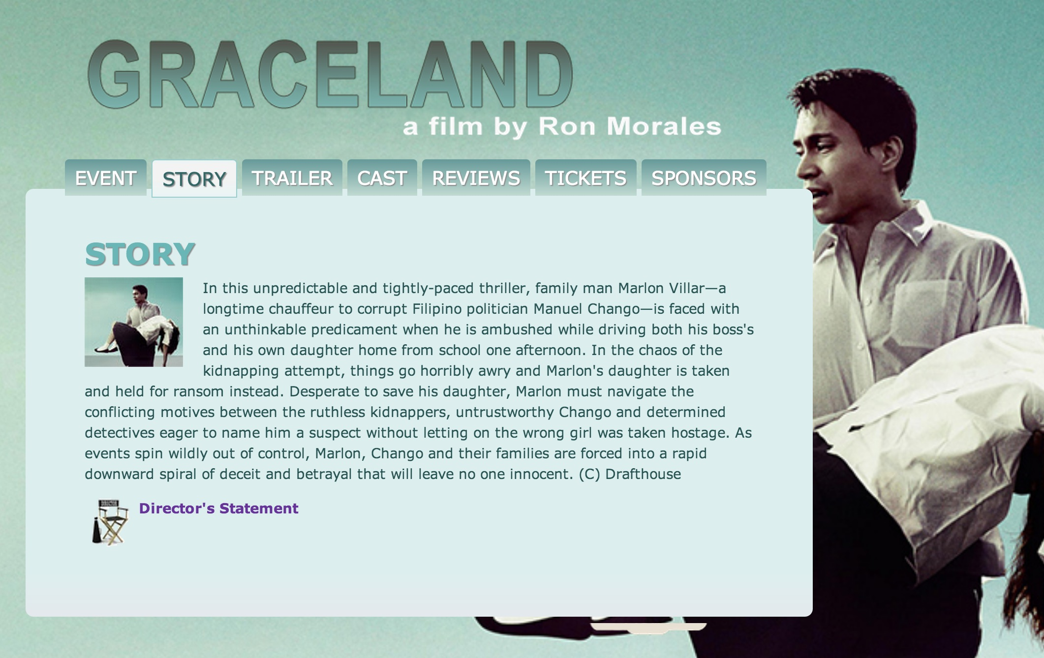 A Film Screening of GRACELAND, a Ron Morales Film Set for 10/6 in Arlignton