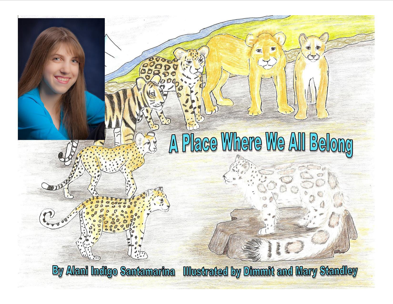 Alani Indigo Santamarina Releases First Book, A PLACE WHERE WE ALL BELONG