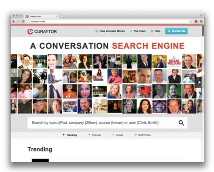 Curaytor Launches a Conversation Search Engine Powered by the Facebook API