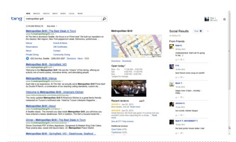 Microsoft Announces More Facebook Integration in Bing Search Results!