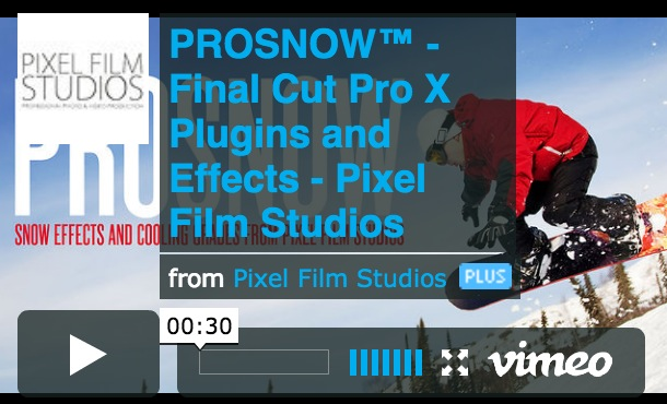 Final Cut Pro X Effect ProSnow Released by Pixel Film Studios Today