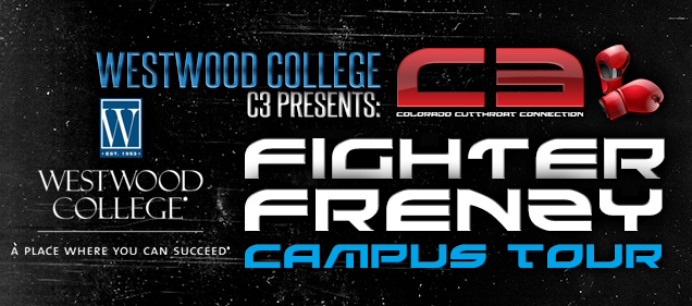 C3 and SuperCon 2K Series to Bring Fighter Frenzy Campus Tour to Westwood College, 12/7