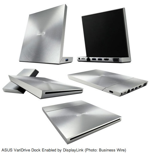 ASUS Launches the New VariDrive Accessory - Docking Station + Optical Drive