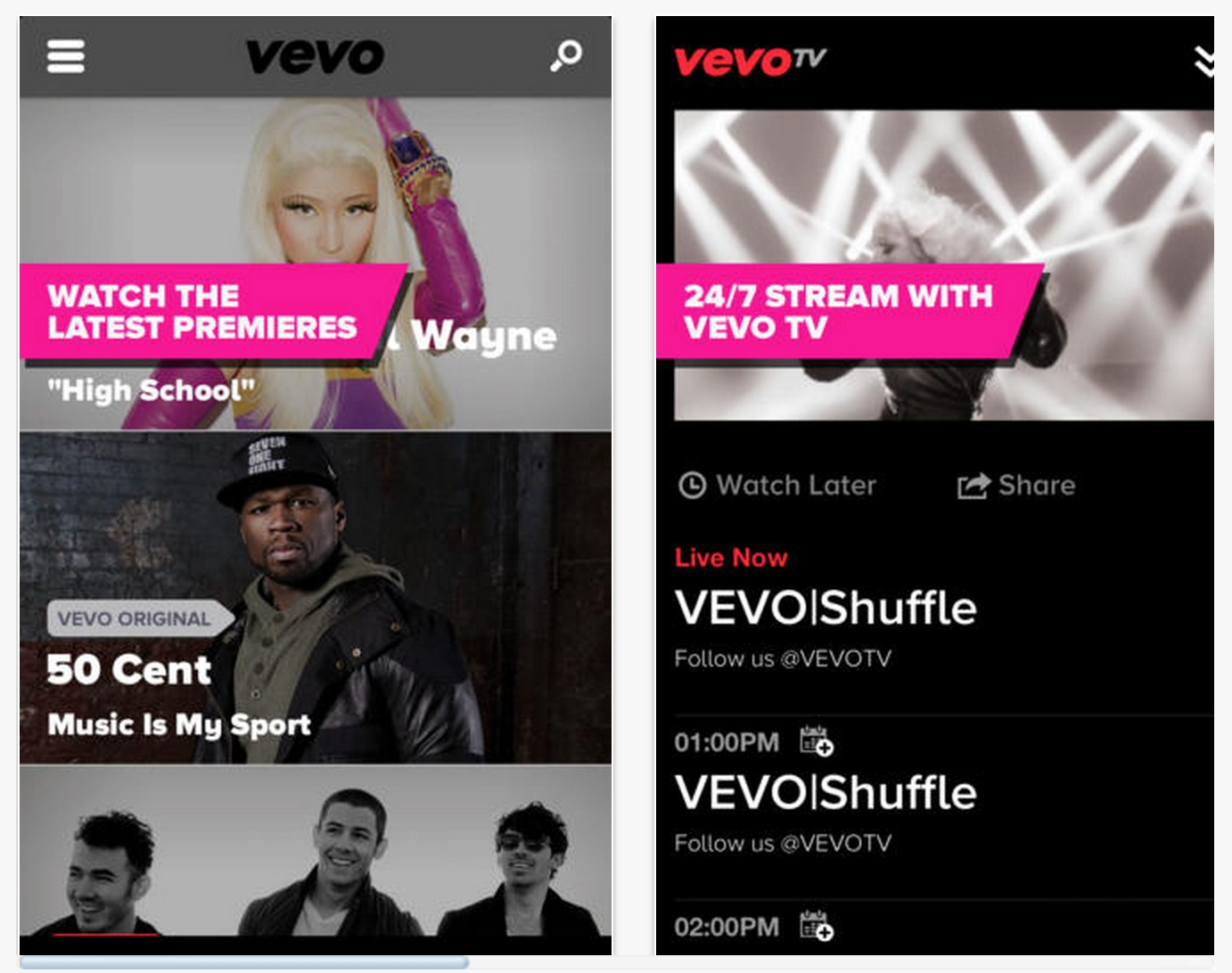 VEVO Adds Airplay Support to iOS Apps, Stream to Your Apple TV!