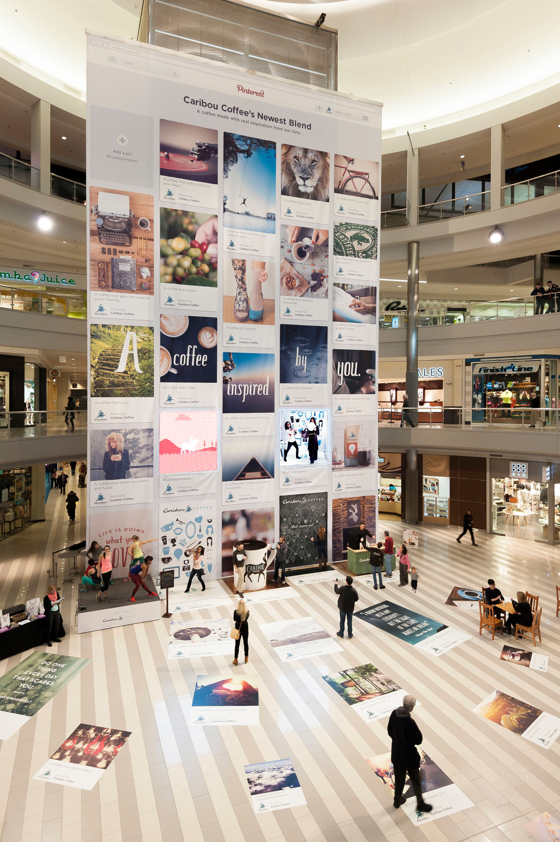 Caribou Coffee Celebrates Launch of Real Inspiration Blend by Creating Larger-Than-Life Pinterest Board inside Mall of America'