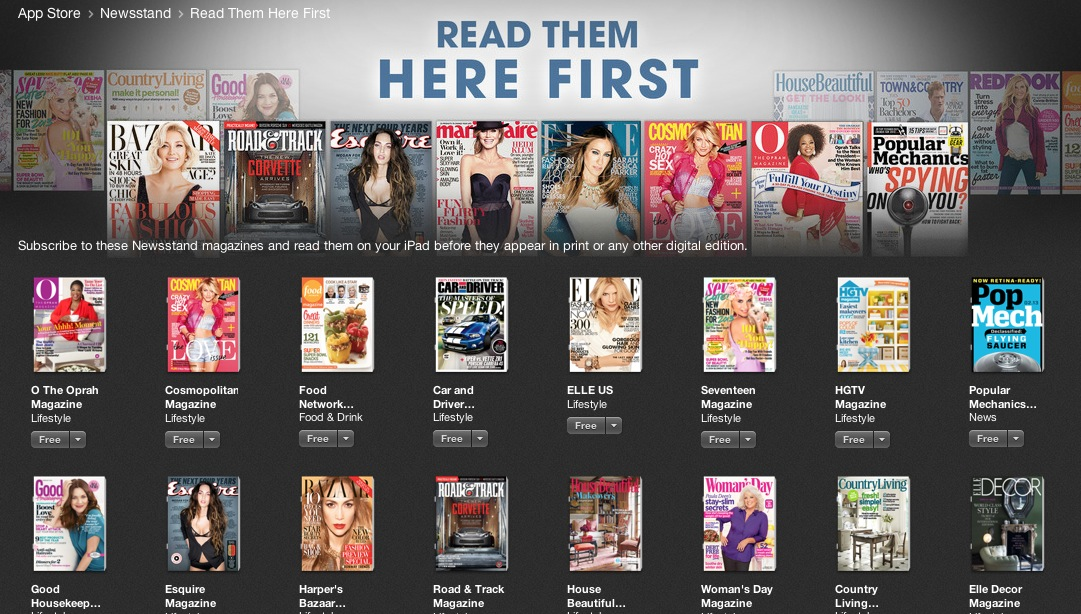 Hearst Launches 'READ THEM HERE FIRST' for All Apple Newsstand Mags