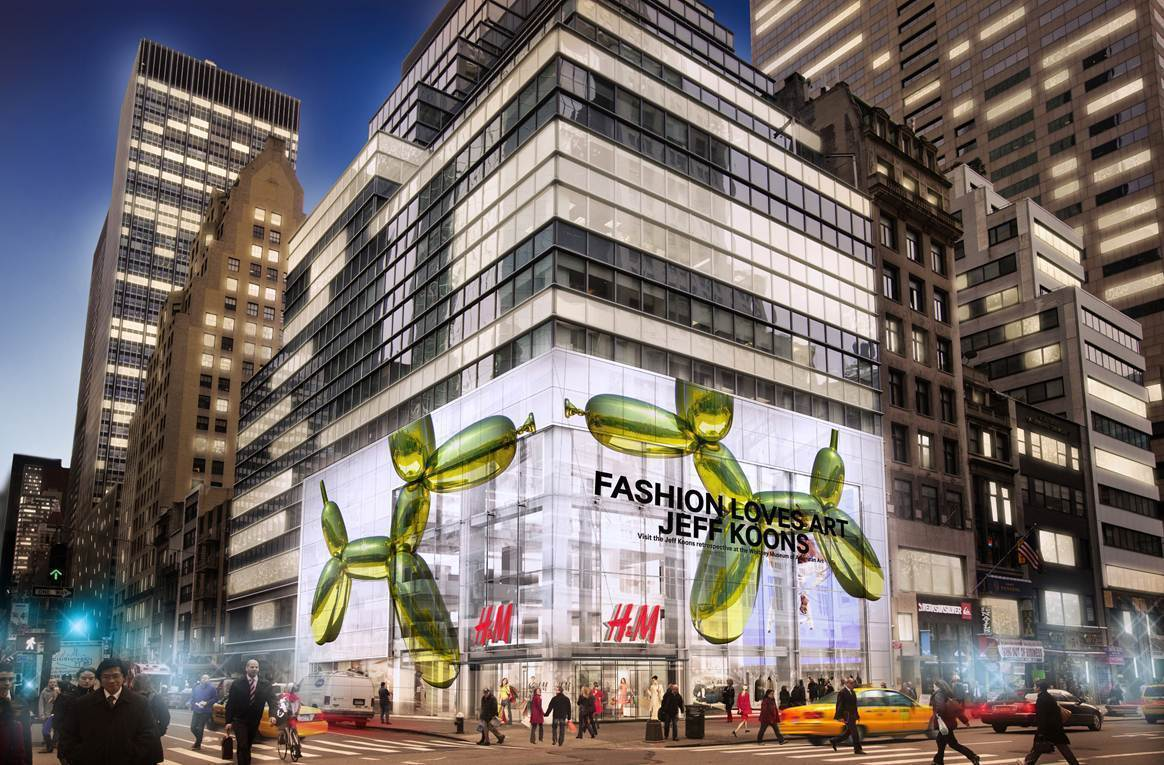 H&M Partners With The Whitney Museum And Jeff Koons on New Fifth Avenue Flagship